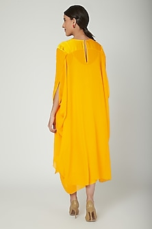 Yellow Panelled Tunic Dress by Stephany