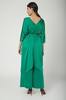 Emerald Green Tunic With Trousers & Belt by Stephany