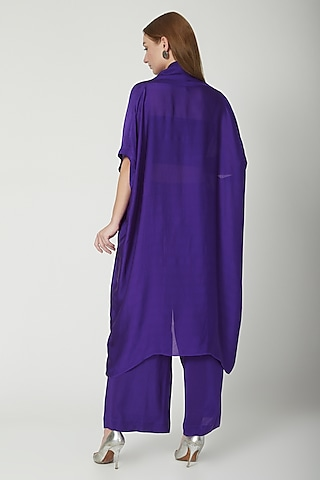 Purple Tunic Dress With Trousers by Stephany