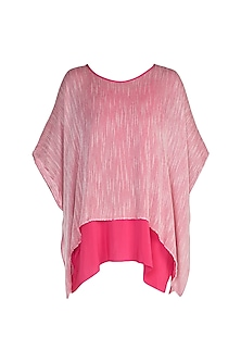 Pink Boat Neck Top With Inner by Stephany