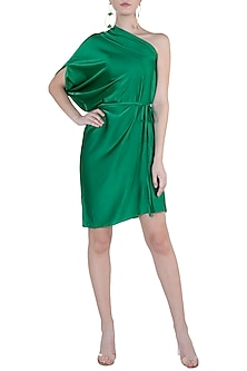 Jade One Shoulder Mini Dress With Belt by Stephany