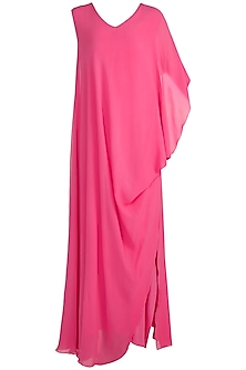 Pink V-Neck Deconstructed Dress by Stephany