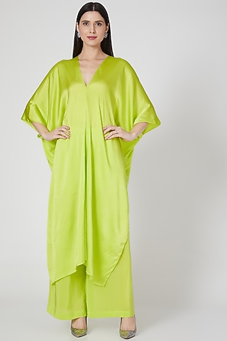 Lime Tunic Set With Tie-Up by Stephany