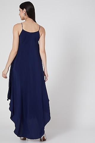 Navy Blue Reversible Dress by Stephany