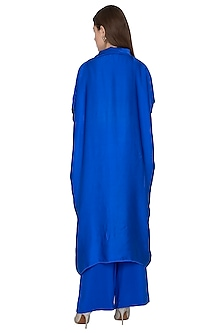 Cobalt Blue Tunic Dress With Trousers by Stephany