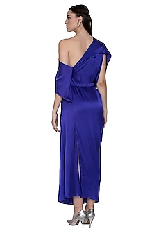 Purple Two Way One Shoulder Dress by Stephany