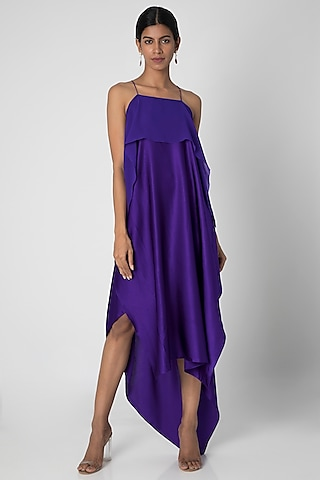 Purple Spaghetti Strap Dress by Stephany