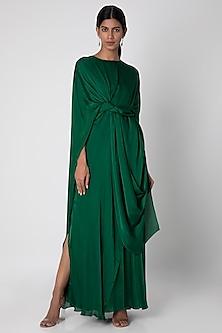 Olive Green 4 Way Slim Cut Dress by Stephany