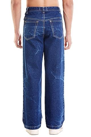Blue Denim Pants by Siddartha Tytler Men