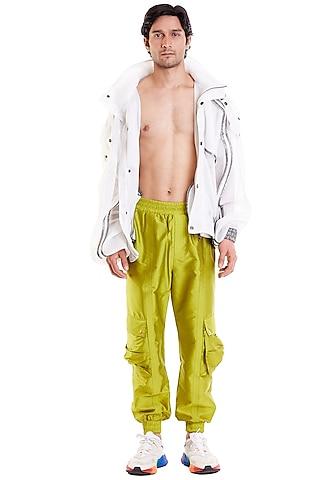 Ivory Neoprene Marshmallow Jacket by Siddartha Tytler Men