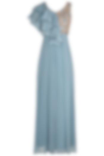 Stone Blue Embellished Jumpsuit by Shruti Ranka