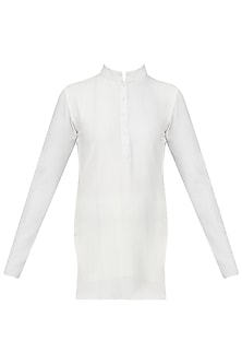 White Kurta Top by Siddartha Tytler