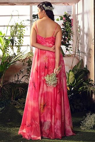 Pink Habutai Silk Corset Dress by Suruchi Parakh