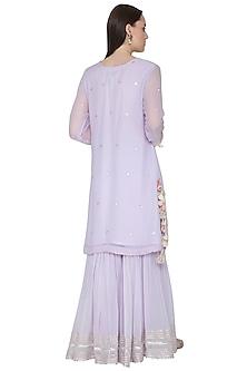 Lavender Embroidered Gharara Set by Surabhi Arya