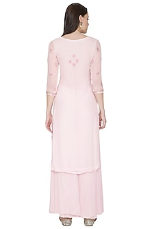Baby Pink Embroidered Sharara Set by Surabhi Arya