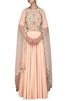 Pink Embroidered Lehenga Set by Surabhi Arya