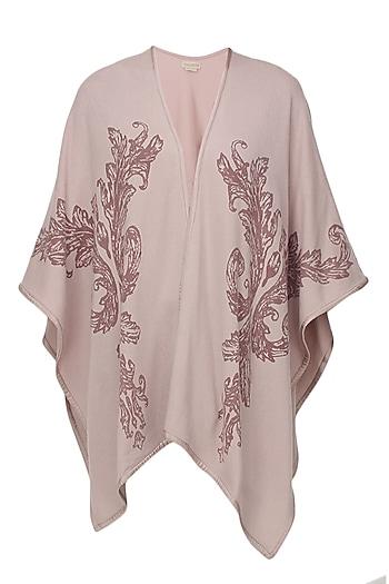 Pink and dark pink swirls cape by Soutache