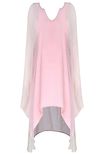 Pink Asymmetric Top by Soutache