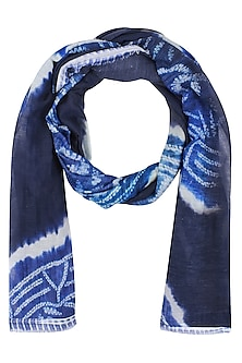 Indigo Tie and Dye Stole by Soutache