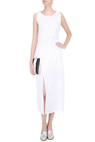 White Dot Print Dress by Soutache