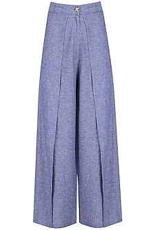 Indigo Wrap Pants by Soutache