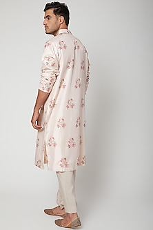 Dahlia Colored Printed Kurta by SVA BY SONAM & PARAS MODI Men