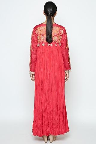 Fuchsia Silk Dress by Swati Vijaivargie
