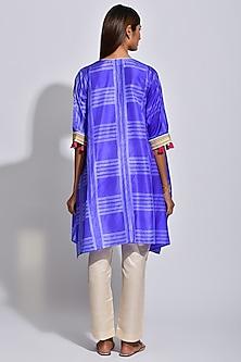 Purple & White Printed Kaftan by Swati Vijaivargie