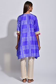 Purple & White Printed Kaftan by Swati Vijaivargie