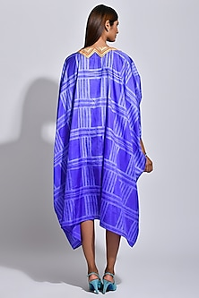 Purple & White Printed Cape by Swati Vijaivargie