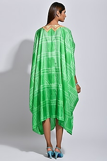 Green Braided Printed Cape by Swati Vijaivargie