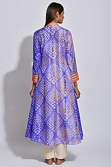 Purple & Orange Braided Printed Kurta by Swati Vijaivargie