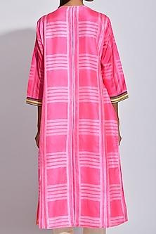 Pink Braided Printed Kurta by Swati Vijaivargie