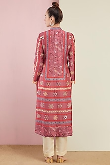 Blush Pink Kurta With Pants by Swati Vijaivargie