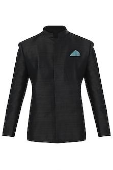 Black Bandhgala Jacket by SVA BY SONAM & PARAS MODI