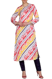 Multi Colored Digital Printed A-Line Kurta by Swati Vijaivargie