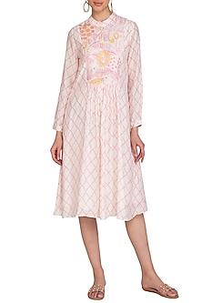 Pink Jaal Motif Dress by Swati Vijaivargie