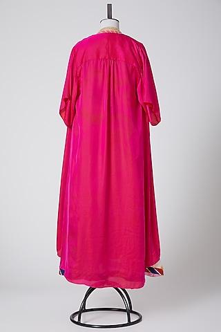 Pink & Multi Kurta With Cape by Swati Jain