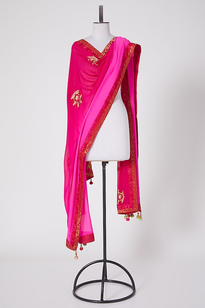 Pink Shaded Dupatta by Swati Jain