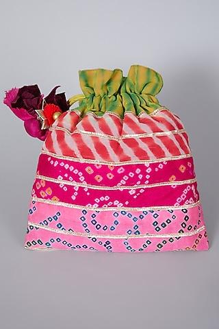 Multi Colored Embroidered Potli Bag by Swati Jain