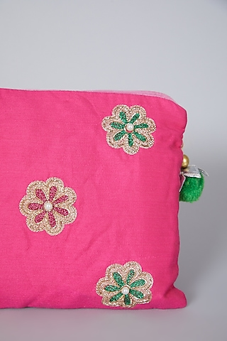Pink Embroidered Bag by Swati Jain