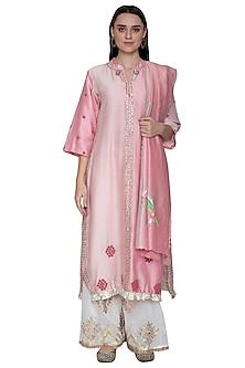 Blush Pink Embroidered Kurta Set by Swati Jain