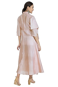 Onion Pink High-Low Dress by Swati Jain