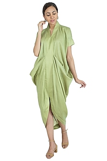 Green Dhoti Style Dress by Swati Jain