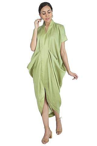 Mint Green Cowl Dress by Swati Jain