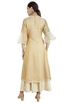 Beige Silk Sharara Set by Swati Jain