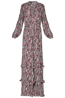 Multi Colored Pleated Wide Leg Jumpsuit by Swatee Singh