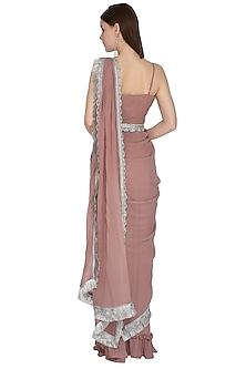Sand Embroidered Pre-Stitched Saree Set by Swatee Singh