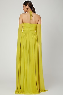 Lime Green Gown With Tie-Up by Swatee Singh