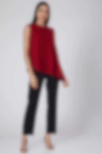 Red Asymmetric Top by Swatee Singh